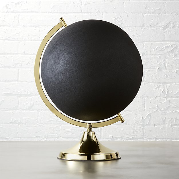 black-and-brass-globe